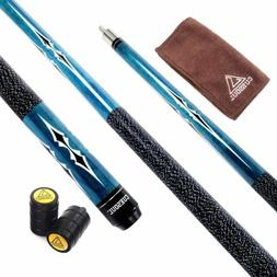 CUESOUL 1/2 Jointed Maple Billiard Pool Cue tips 13mm 58 Inc