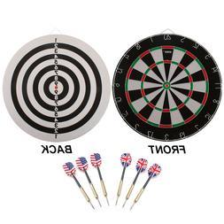 "18x1"" Regulation Size 2-in-1 Dartboard. Dart And Bullseye"