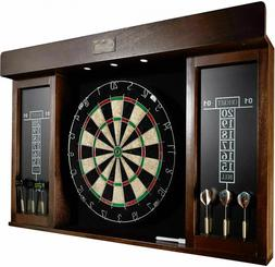 40 Inch Dartboard Cabinet Play Game Room Home Sports Dart Bo
