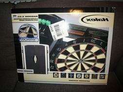 HALEX 8-Player Electronic Dartboard with Integrated Cabinet