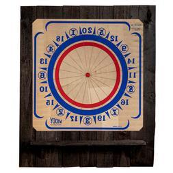 American Dartboard with Backboard and Shelf – Reclaimed Wo