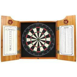 Anheuser Busch Wood Dart Cabinet Set