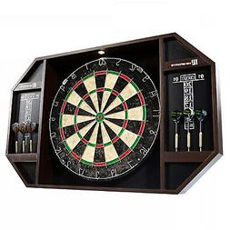Bristle Dartboard Self-Healing Sisal Board Cabinet LED Light