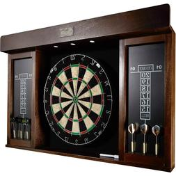40 Inch Dartboard Cabinet Play Game Room Home Sports Dart Bo