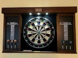 dartboard cabinet and dart board set led