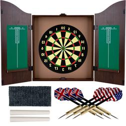 Dartboard Cabinet Set Professional Dart Board Bar Home Game