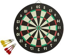 Dartboard Cabinet Set Accudart Starlite 6 Brass Darts 18 Inc