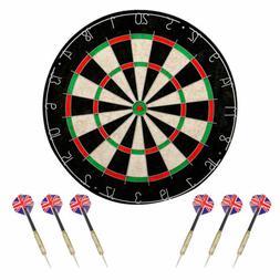 dartboard set shot king regulation bristle steel