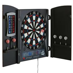 Electronic Dartboard Cabinet Set Scoreboard Darts Dart Board