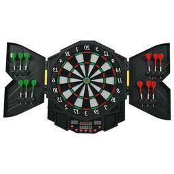 Professional Electronic Dartboard Cabinet Set w/ 12 Darts Ga
