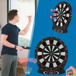 Electronic Dartboard LED Magnetic Board Darts Set Hanging In