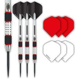 Red Dragon Evos: 28g - 90% Tungsten Steel Darts with Winmau