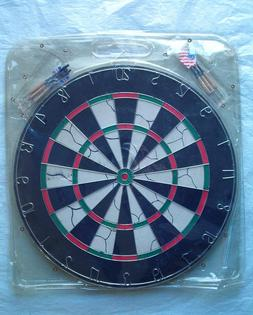 "Game Room Dart Set with 6 Steel Tip Darts and 18"" Dartboard"