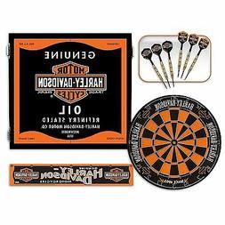 Harley-Davidson ® Genuine Oil Can Steel Tip Dartboard Kit F