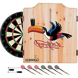 guinness dart cabinet set with darts & board - toucan