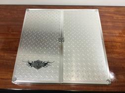 Harley-Davidson Dart Board w/ HD Diamond Plate Case RARE