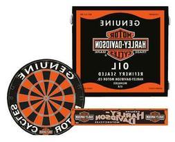 Harley-Davidson Genuine Oil Can Dart Board Kit - Black Woode