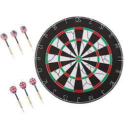 Trademark Games Double-Sided Flocked Dart Board – Regulati