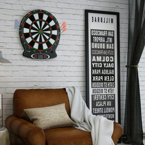 15in Electronic Dart Set Game Room LED Display with 6 Darts