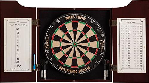 bristle dart boards cabinet set