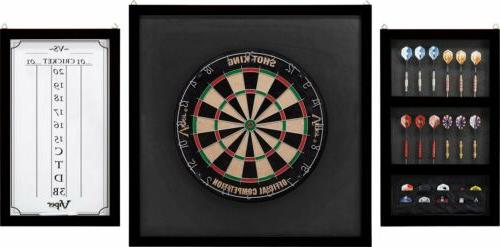championship wood framed dartboard backboard