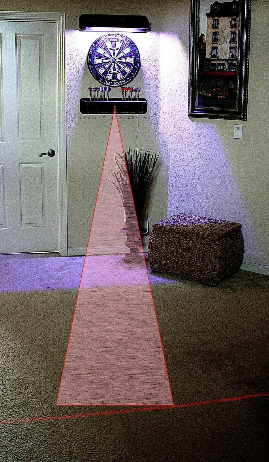 Darts Cabinet Backboard Lighted Laser Throw line