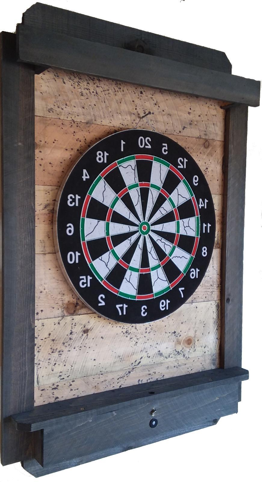 Darts Board Cabinet Backboard Throw