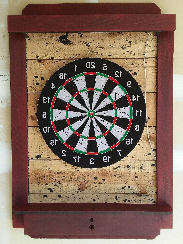 dart board cabinet dartboard backboard led lighted