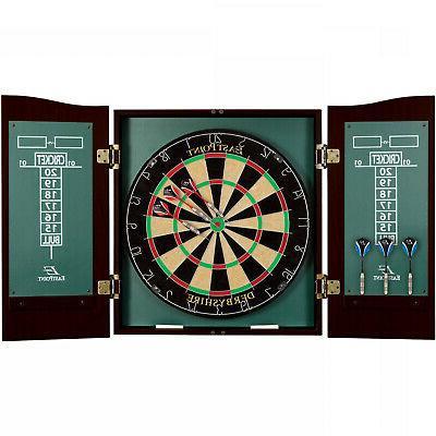 dart board cabinet set game