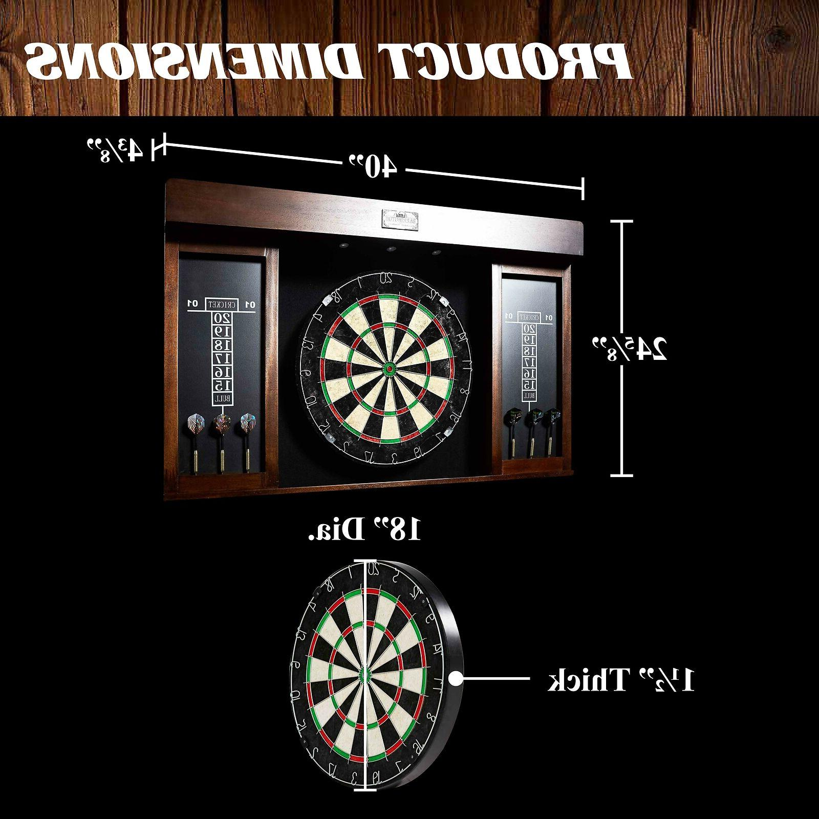 Dartboard & Dart Board Set w/ Flights Fun Game