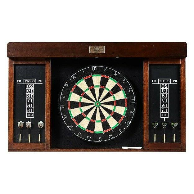 Dartboard Cabinet Dart Board Set w/ Fun Quality Game