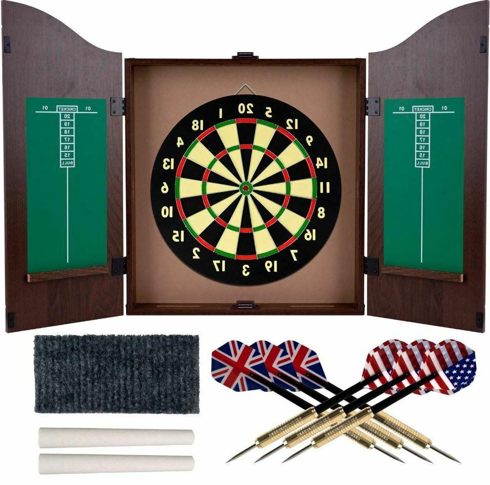 Dartboard Set Professional Dart Board Bar Game With Wood