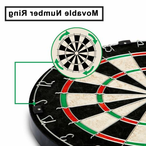 Dartboard Set Shot Regulation Steel Tip with Staple-Free Bullseye