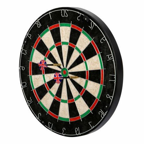 Dartboard Set with Staple-Free Bullseye High Grade Compresse