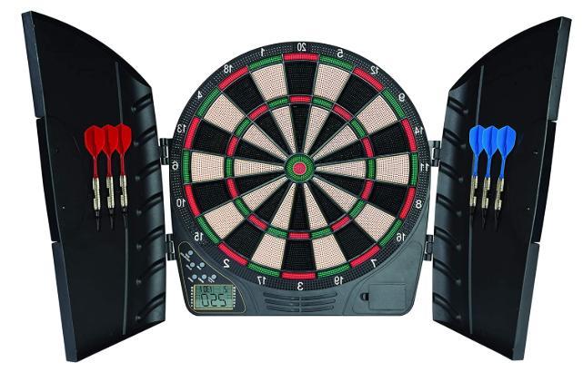 Electronic Dart Board Cabinet Door Set Kit Indoor Game Party