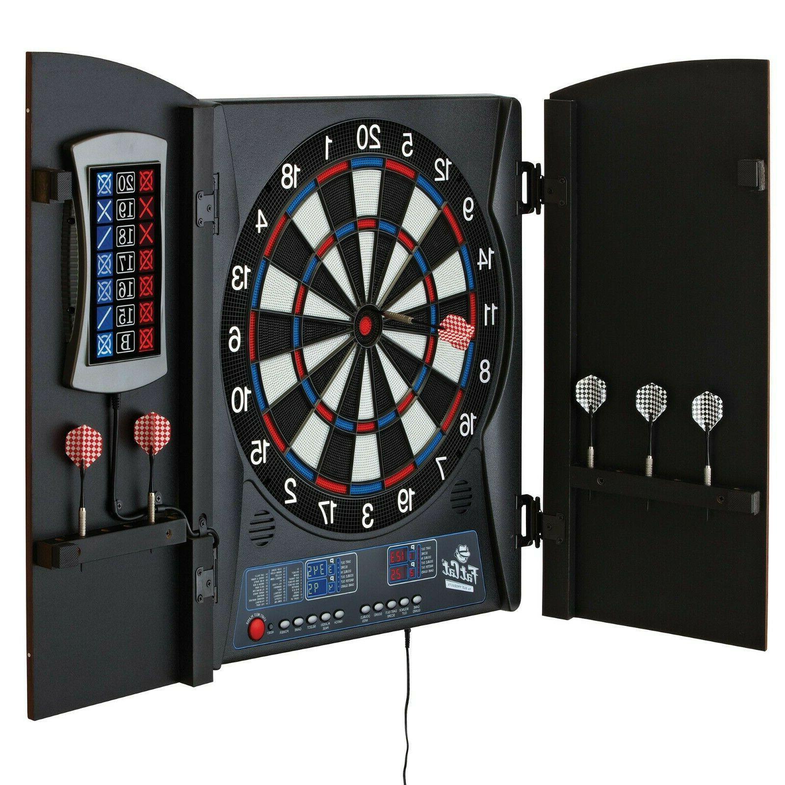 electronic dartboard cabinet set scoreboard darts dart