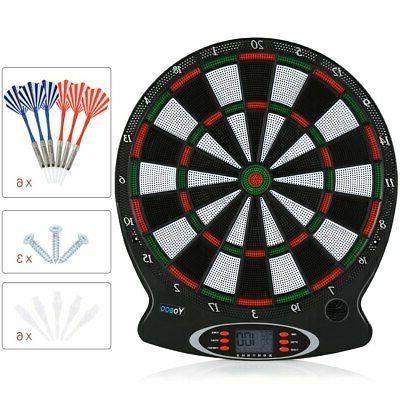 Electronic Dartboard Set Target Game Room LED Display Wall H