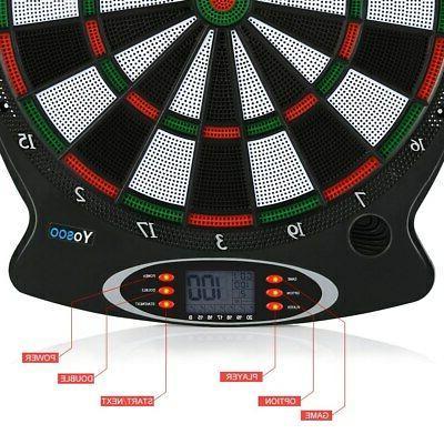 New Board Set Target Game Room LED 6 Darts