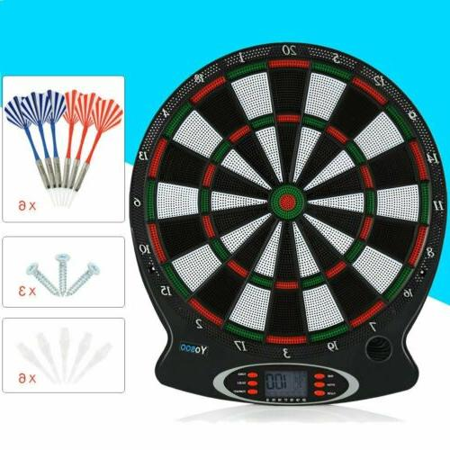 Electronic Dartboard LCD 38cm Target Face Soft Tip Target Board