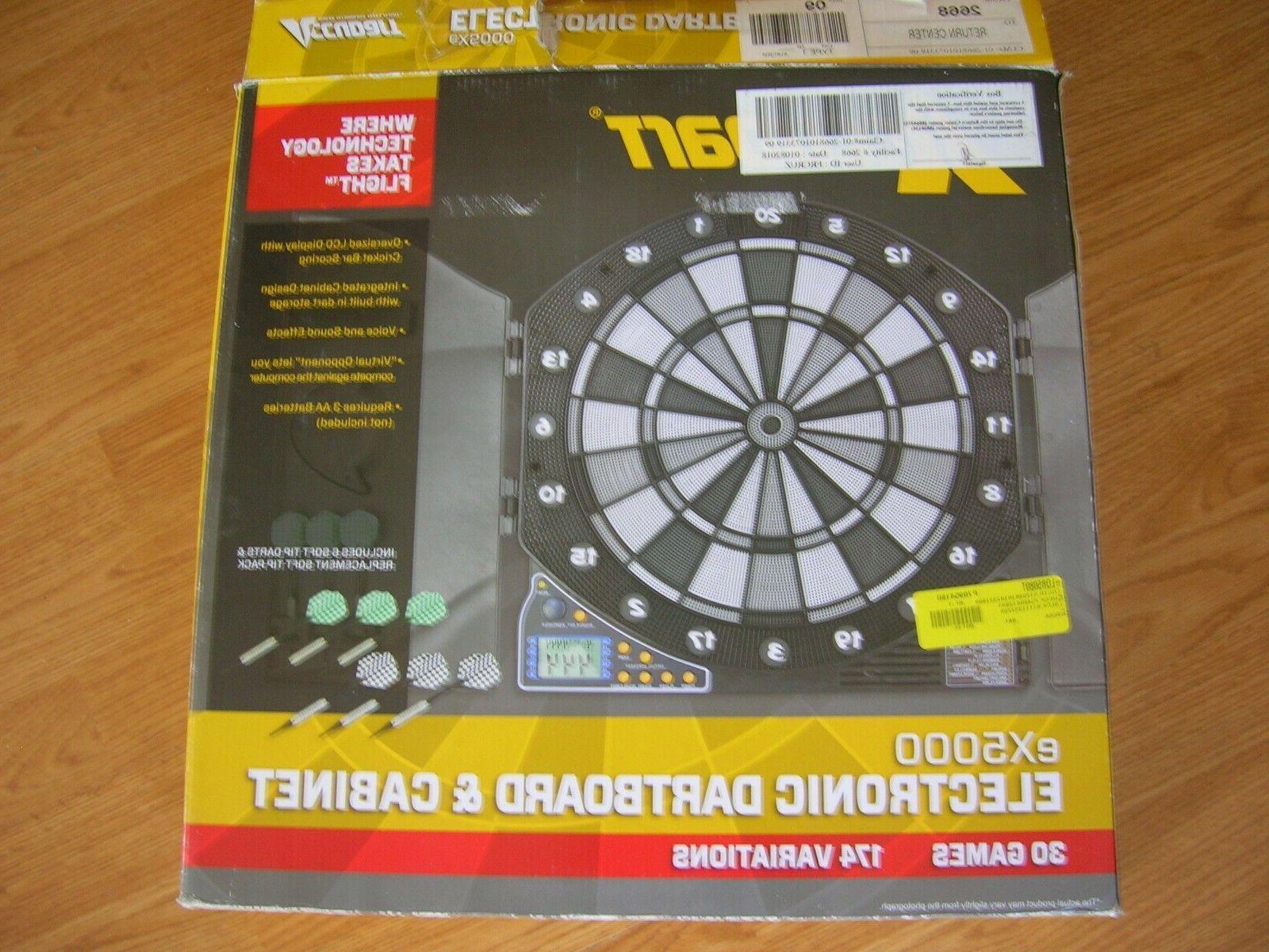 Accudart EX5000 & Cabinet Games 174 Variations Darts