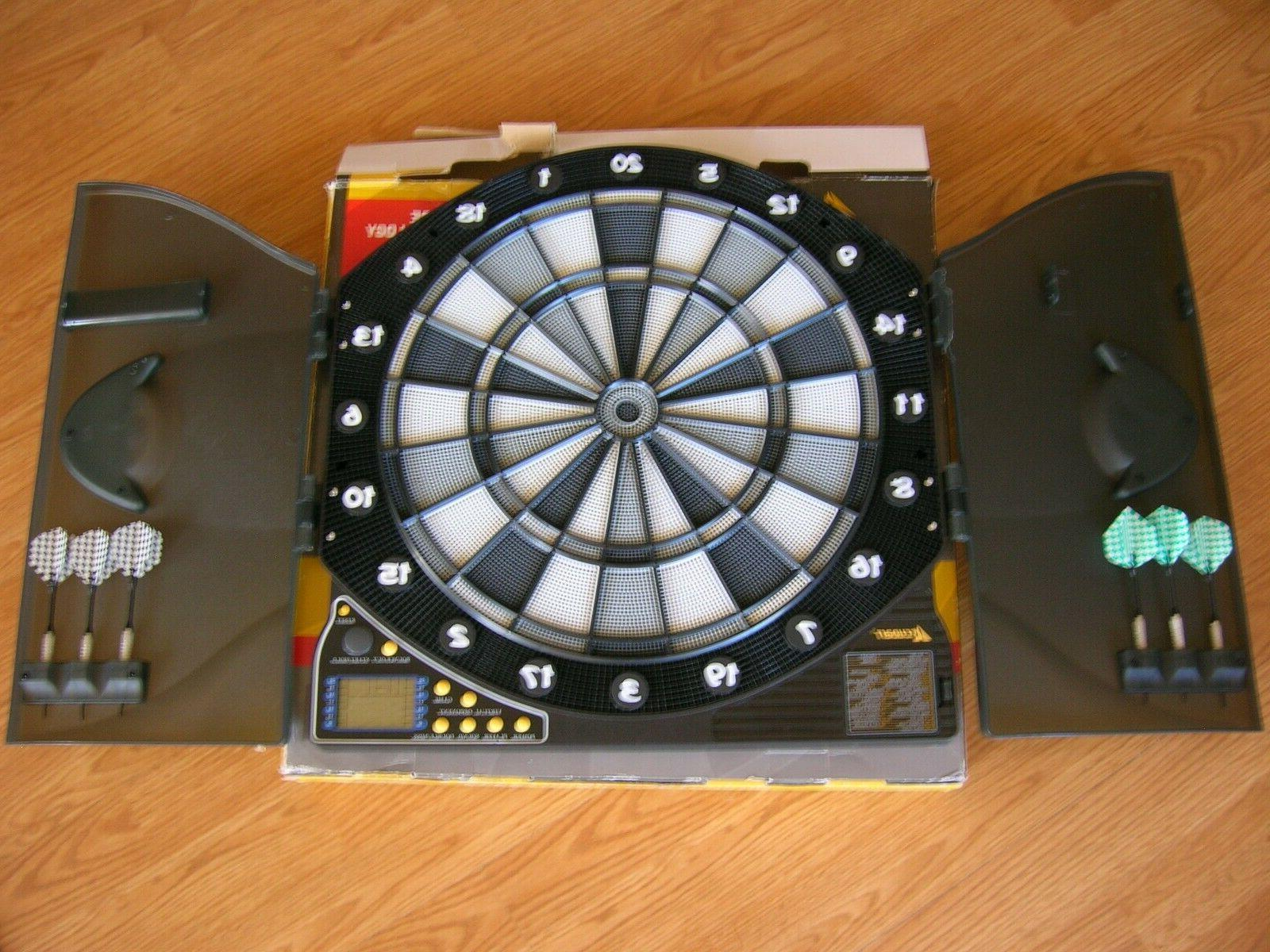 ex5000 electronic dartboard and cabinet 30 games