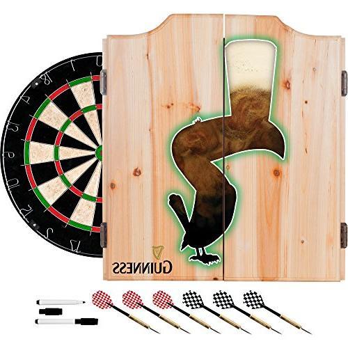 guinness dart cabinet set
