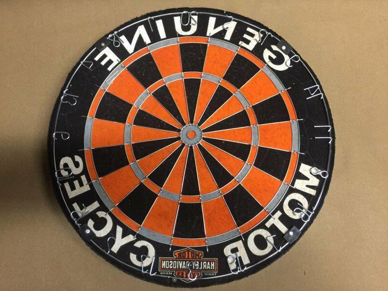 harley davidson genuine hd steel tip dartboard