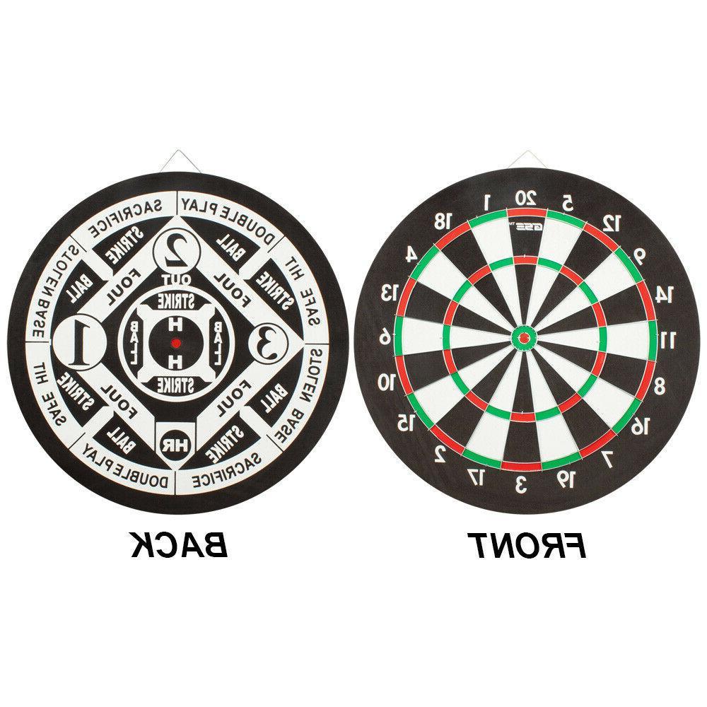 regulation size dart board game set