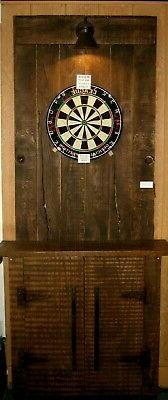rustic dart backboard walk up bar reclaimed