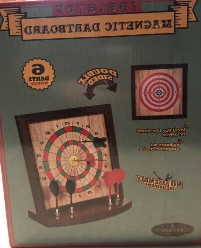 Table Top Magnetic Dartboard - Double Sided 6