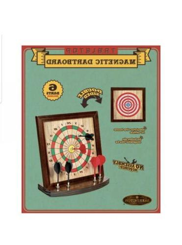 table top magnetic dartboard new double sided