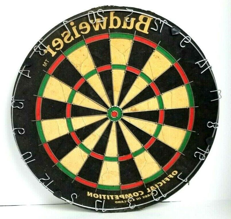 vintage bristle budweiser dart board england brand