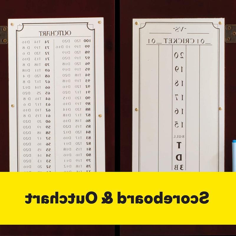 Viper Hudson Sisal/Bristle Tip Dartboard Cabinet