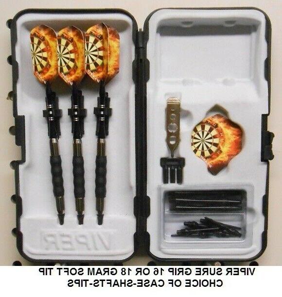 Viper 16 or 18 Soft Tip Dart Set- Flaming Dart